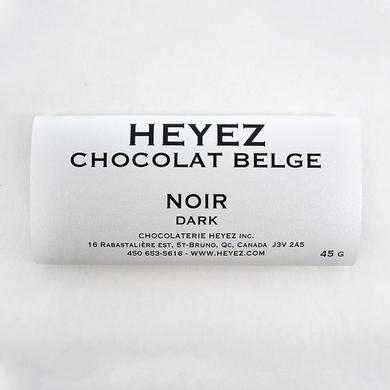 Black Belgian chocolate bar