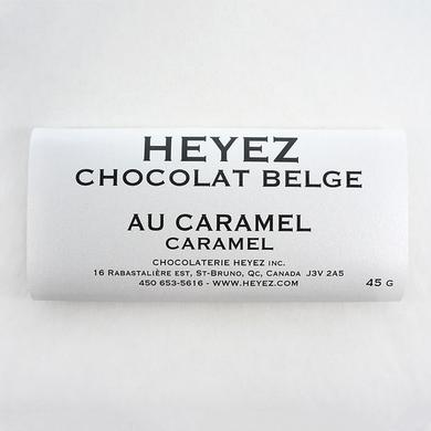 Belgian caramel chocolate bar