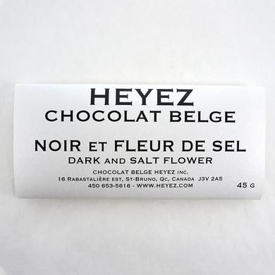 Black Belgian chocolate bar and fleur de sel