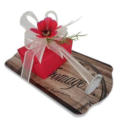 Cheese board and 8 chocolates box